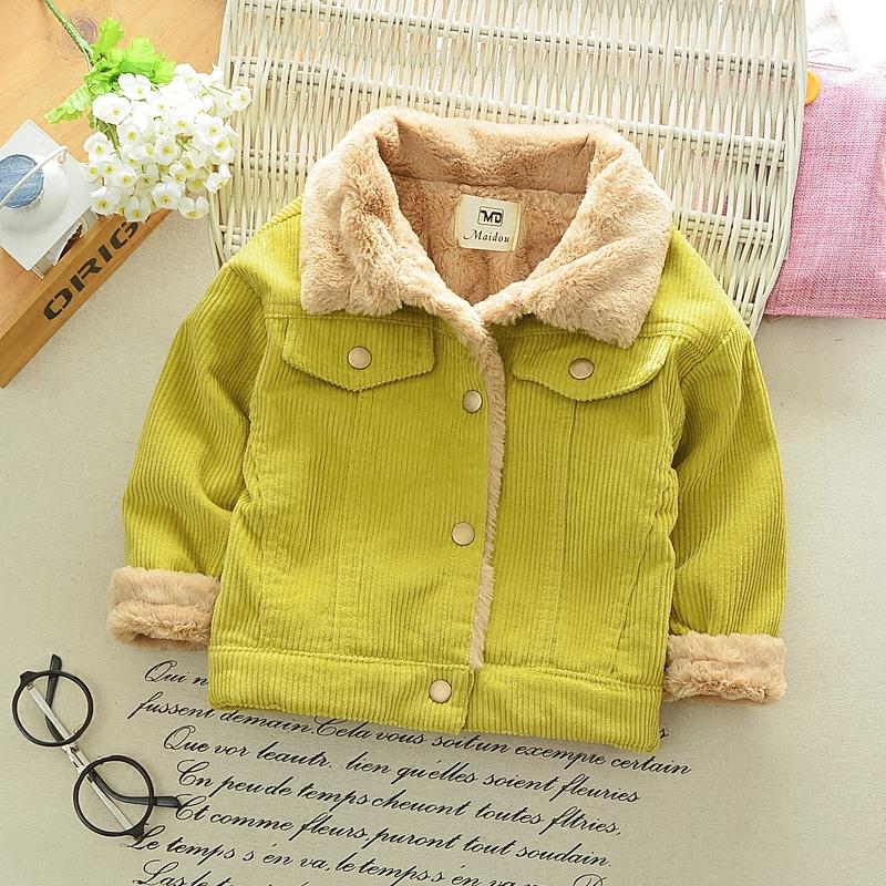 5男童外套加绒加厚灯芯绒保暖棉衣