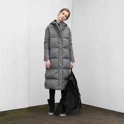 日着酷酷风格女装2020年冬装新款 中长款过膝品牌白鸭绒羽绒服女