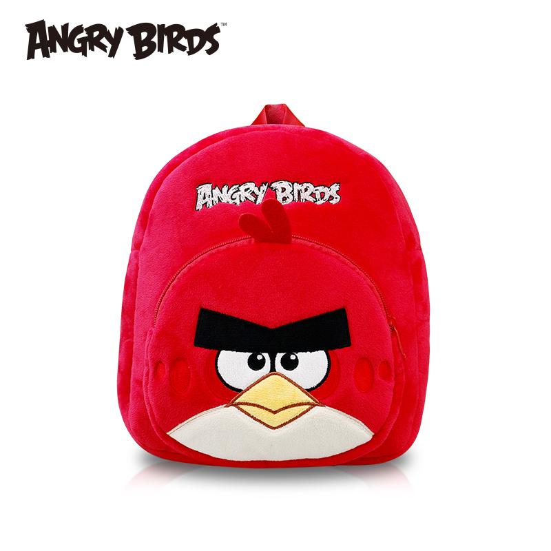 憤怒的小鳥 兒童卡通幼嬰兒動漫毛絨書包2~6歲減負雙肩背包 男女
