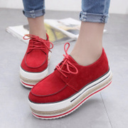 Europe and the wind low autumn shoes Scrubs mosaic cake thick soled shoes flat round head strap casual shoes