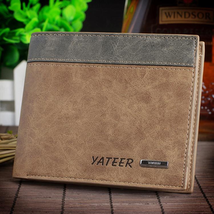 Short mens wallet horizontal wallet frosted retro student card bag men wallet pop bag