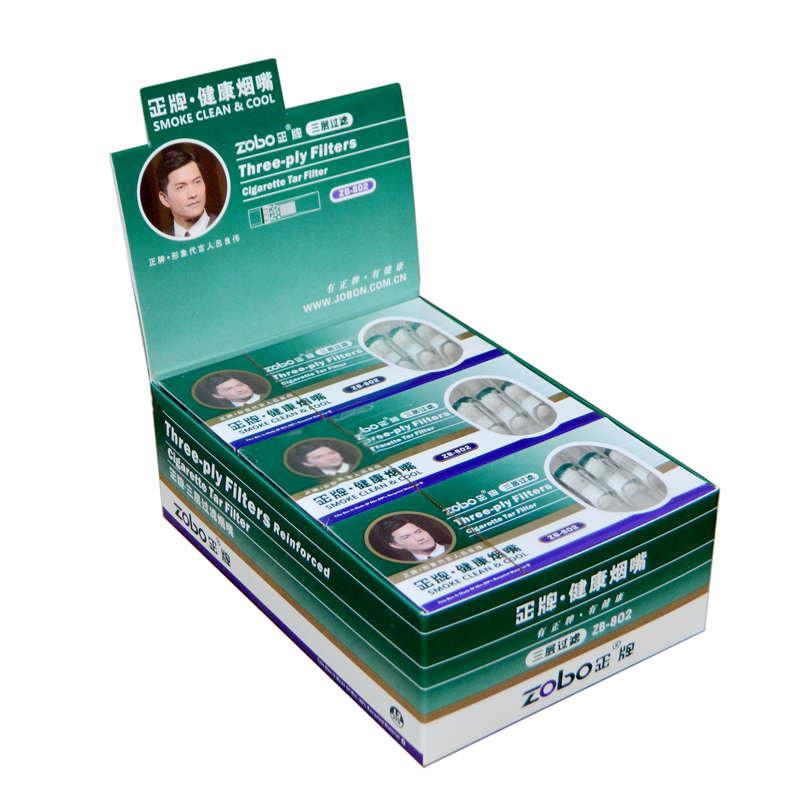 Zobo положительный карты zb-802 здоровье эффективный 120 филиал тройной фильтрация рот одноразовые дым рот ладан дым фильтр