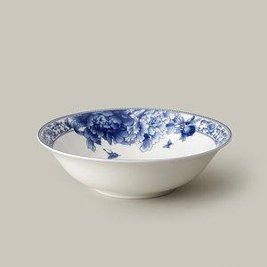 老瓷匠 9英寸大汤碗 纯一级骨质瓷 出口品质 景德镇青花瓷釉中彩