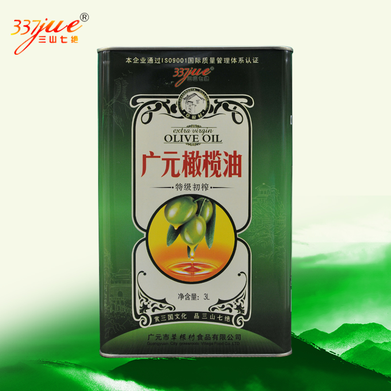 Sanshan Qijue extra virgin olive oil barrel 3L Guangyuan specialty local press gifts for family and friends