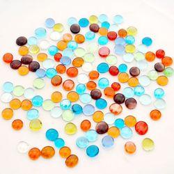 抢包邮260个小号彩色玻璃珠鱼缸内装饰水族箱造景玻璃球家装彩石