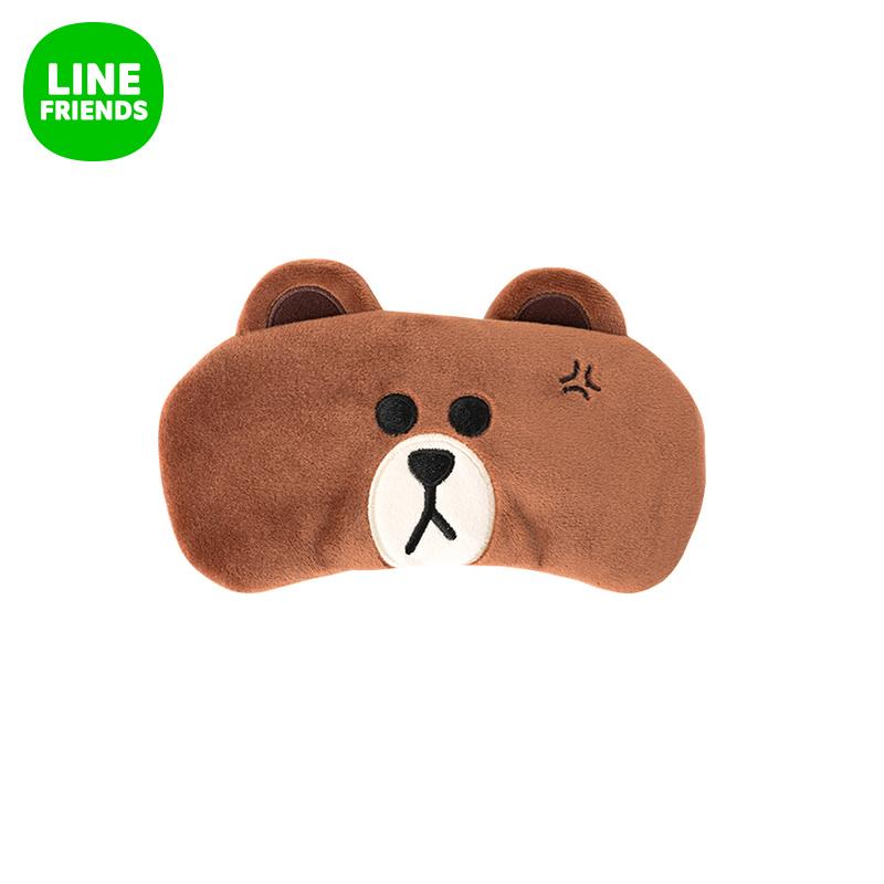 LINE FRIENDS 布朗熊睡眠眼罩 遮光透氣男女 睡覺護眼罩
