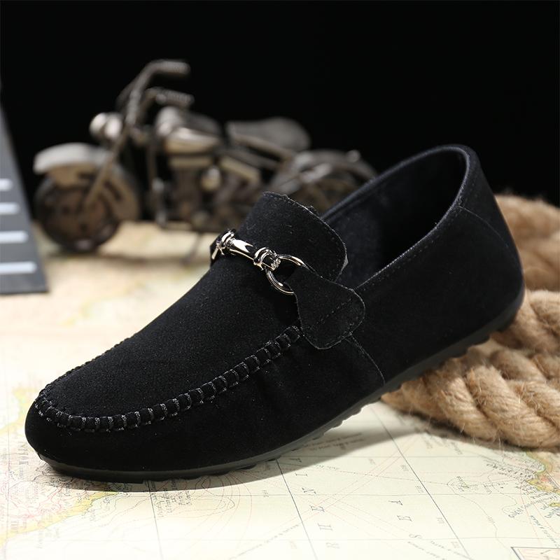 Корейская версия ежедневной линии тренда мужская обувь повседневная обувь весной помогли диск обуви холст фасоли обувь ленивый обувь лодки обувь