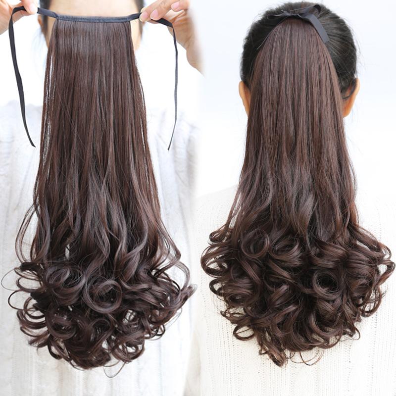 Парик хвощ лесной парик женский длинный кудри бандаж стиль реалистичное изображение большие волны длина груша глава хвощ лесной коса парик лист