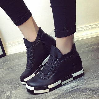 Korean leisure fall 2015 new stealth increases women's shoes platform high shoes sets foot shoes sneaker wave