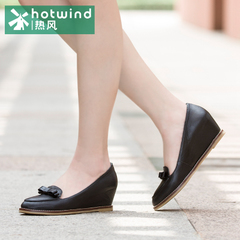 Hot shoes-fall 2015 bows pointed shoes in women with increased leisure shoes women surge 61H5815