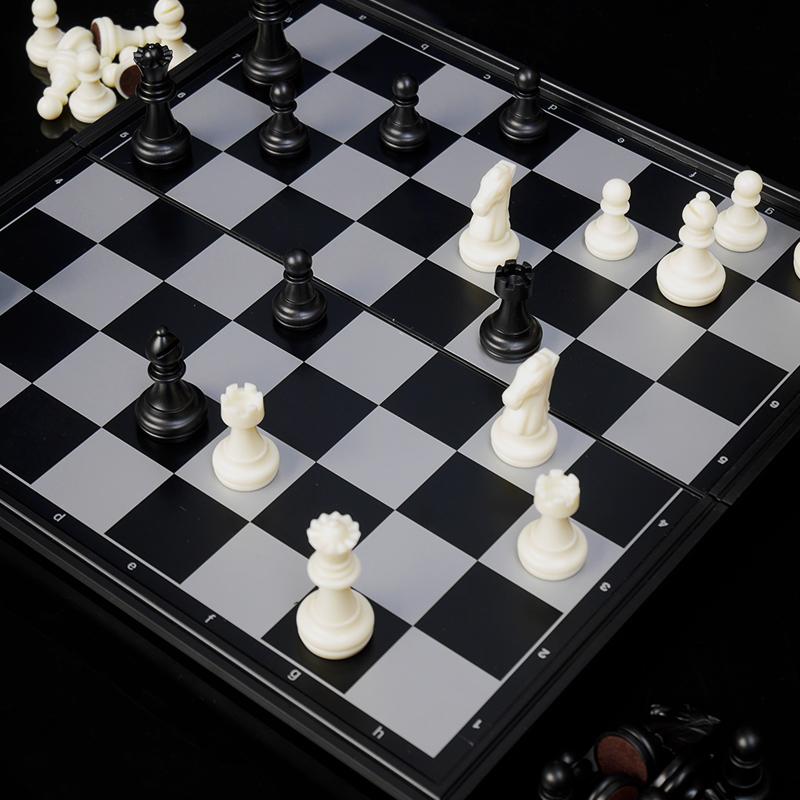 Шахматы друг государственный магнитный сложить шахматная доска установите для взрослых ребенок начиная головоломка chess xl кусок