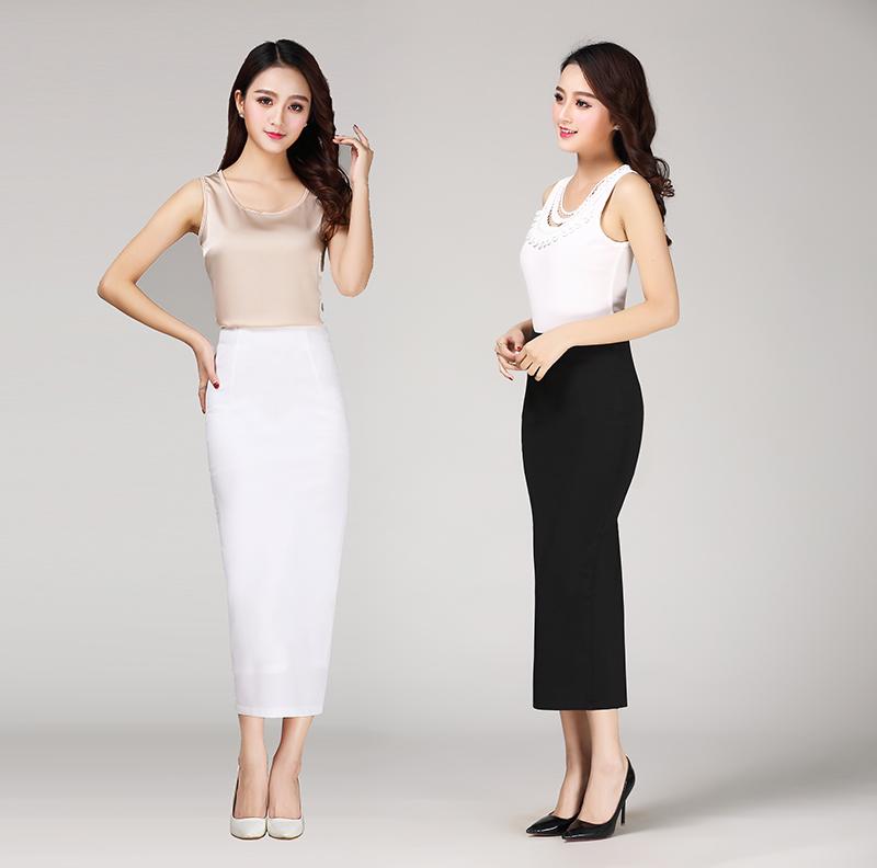 2019春夏包臀后开叉半身长裙修身女显瘦中长款高腰瘦腿提臀