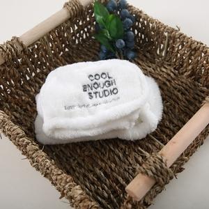 韩版网红头带可爱白色绒布柔软兔耳朵洗脸发带头巾宽边头扣发箍女