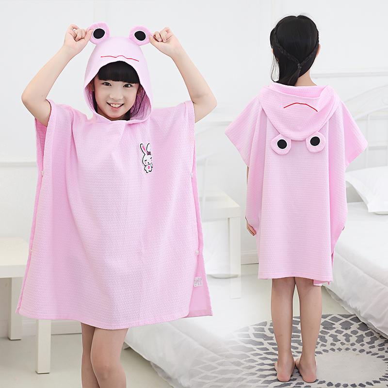 Ребенок хлопок закрытый полотенце мультики халаты закрытый ванна одежда ребенок плавать абсорбент хлопок плащ ванна надеть ночное белье
