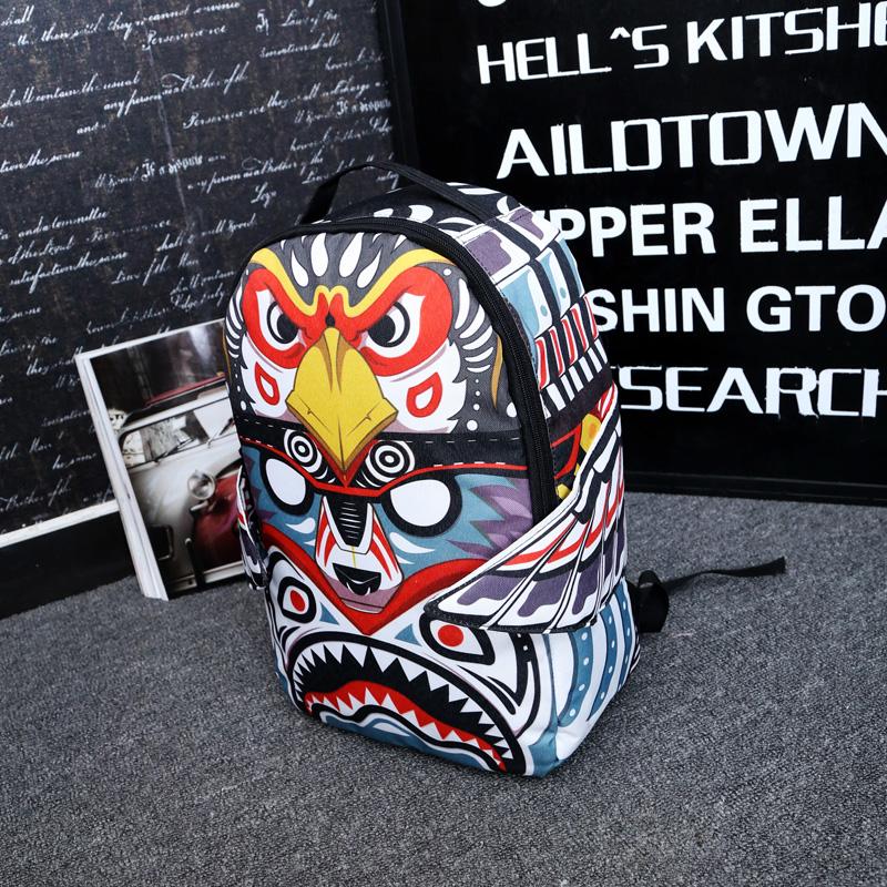 Корейская версия граффити холст печати сумка женщин большой емкости cool мешок мальчик тенденции пакеты путешествия студентов средней школы