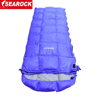 Haiyan envelope hooded 8 18 degrees ultralight adult white duck down sleeping bag down sleeping bag outdoors person spring Xia Qiucheng