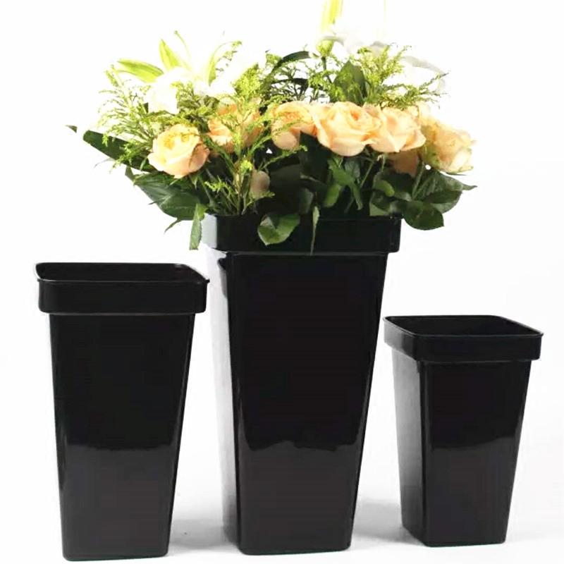 Черный цветок баррель железный лист баррель материал пластик баррель букет цветы баррель черный использование поддержка цветок баррель цветочная композиция баррель