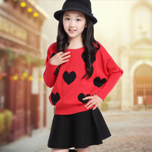 Hi TongBao baby clothes girls fall 2015 render unlined upper garment of qiu dong batwing coat sweater coat cuhk children's children