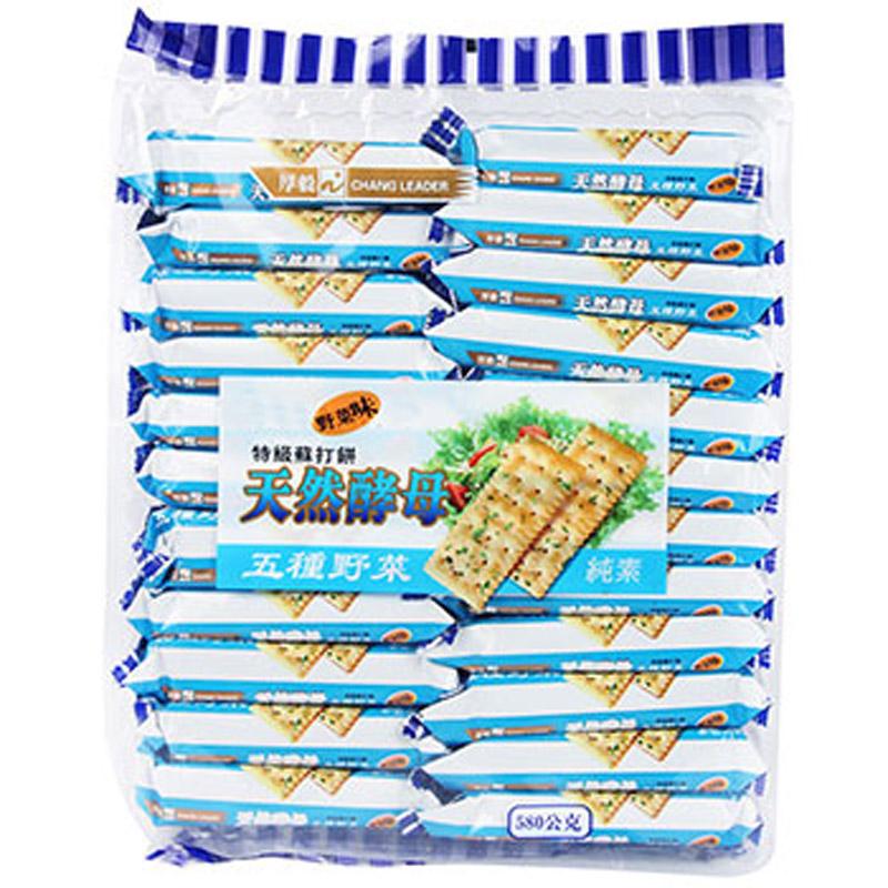 ~天貓超市~馬來西亞 厚毅牌 五種蔬菜蘇打餅幹580g 野菜味