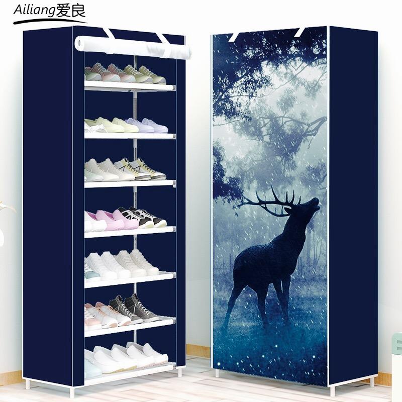 Обувная полка легко пыленепроницаемый комната с несколькими кроватями многослойный сон комната домой шлепанцы полка экономического типа сборка ткань хранение кабинет обувной