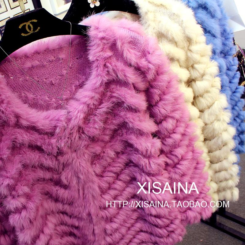 Осенью 2015 новой корейской версии волос кролика простой t вязаный мех свитера женщин кардиган куртка пакет почты
