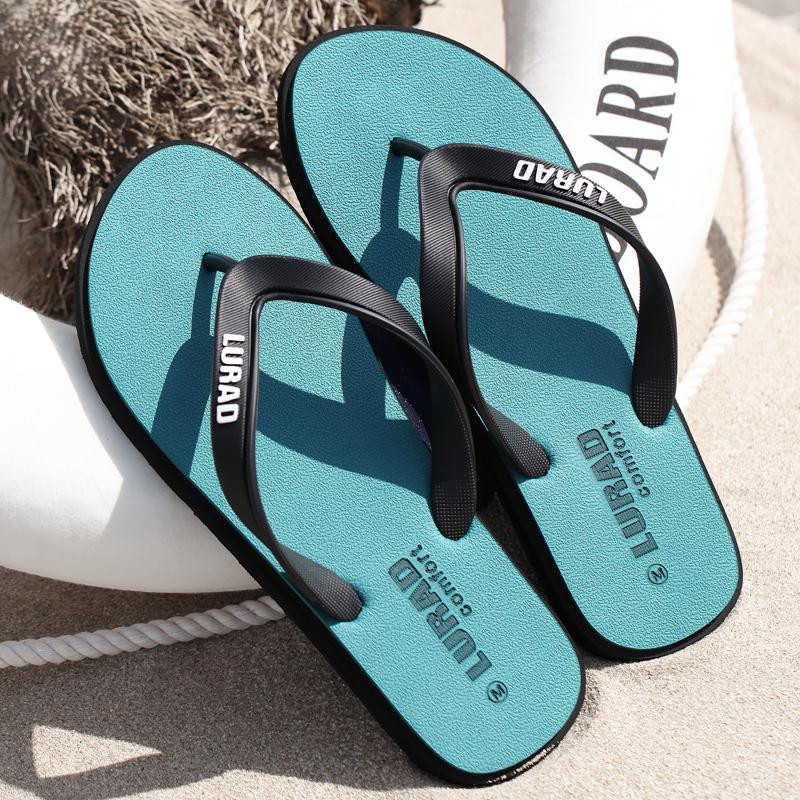 Дорога тянуть следовать мужской шлепанцы лето скольжение на открытом воздухе прохладно торможение клип ступня шлепанцы мужчина случайный резина песчаный пляж обувной тенденция