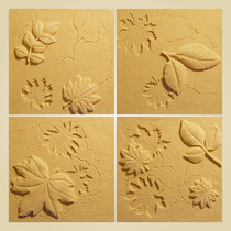 Artificial sandstone embossed wall-mounted decorative culture stone wall hanging stereo custom sandstone background wall Maple Leaf Board