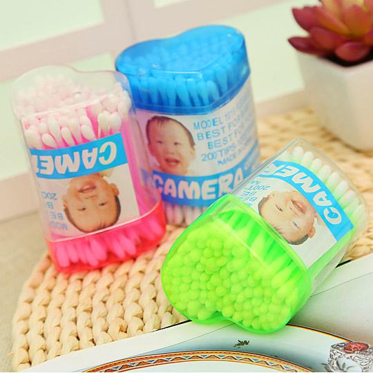卫生棉包彩色塑料管棉条盒装棉签五折促销