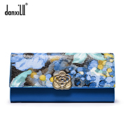 Danxilu/danxilu 2015 new leather women wallet leather continental wallet wallets ladies hand bag