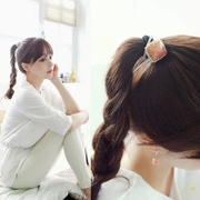 Know Connie hair Korea hair band hair Rope wire grid square triangle circles made by the Japanese and Korean version of Pearl String