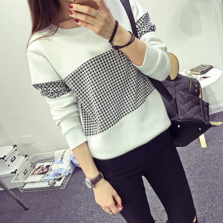 К 2015 году корейский осень цвет соответствия женский новый с длинным рукавом водолазка свитер размер студент вершины тонкий конфеты цветные t рубашка