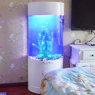Shun Di Cheap semi cylindrical acrylic aquarium ecological aquarium changing the water free Continental Creative