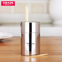 Toothpick barrel Toothpick Box can creative cute simple automatic personality Home 304 stainless steel portable living room