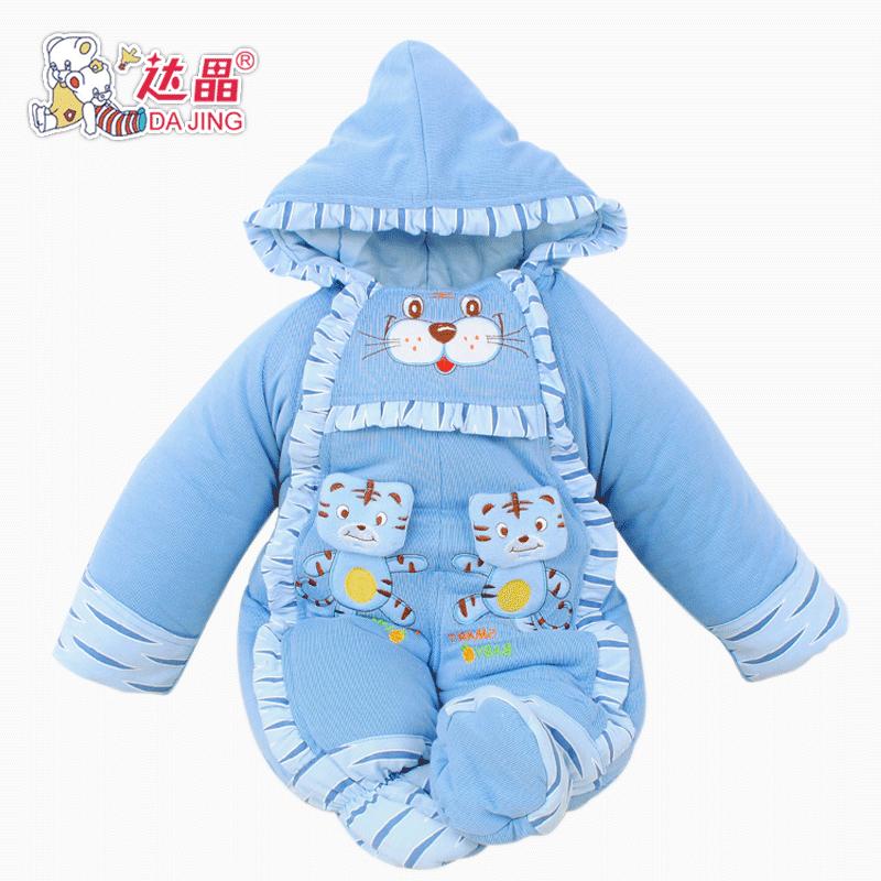 Dajing HA утолщенной осень/зима одежда новорожденного младенца baby onesies Комбинезоны пальто теплый 522