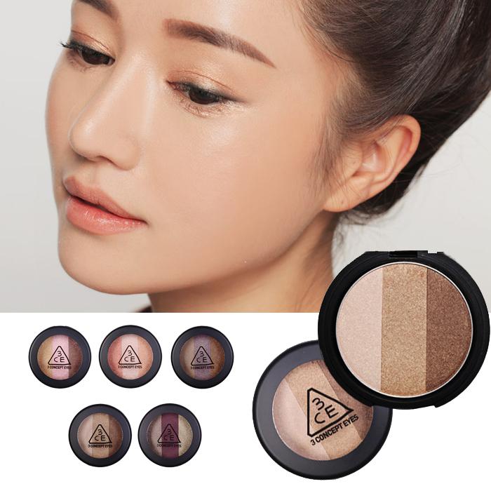 韩国正品 stylenanda 3ce 三色眼影 大地色珠光裸妆烟薰 五色可选