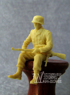 1 35 resin Soldier World War II German soldiers equipped with tanks