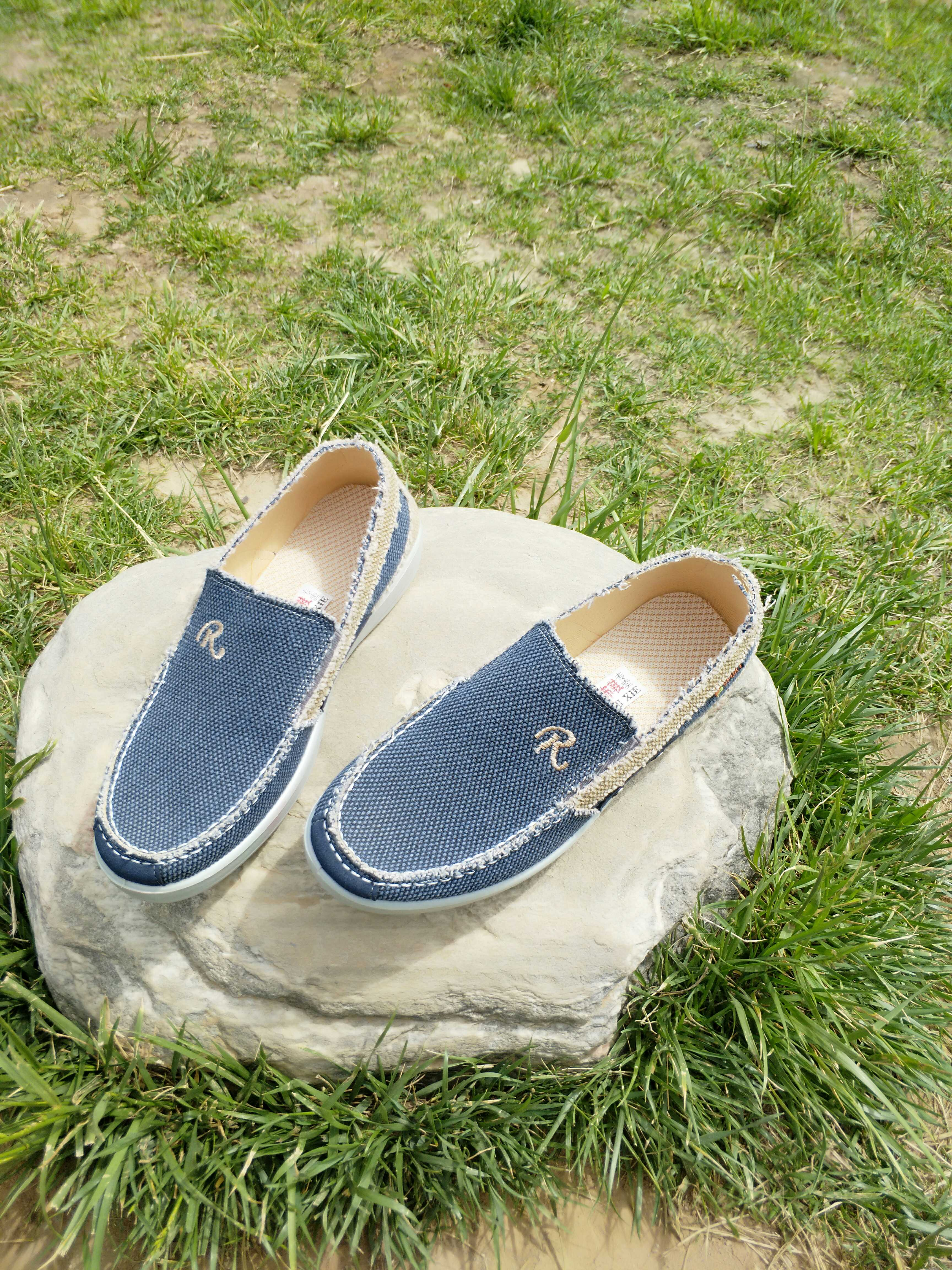Old Beijing cloth shoes, lazy man leisure canvas shoes, mens new style