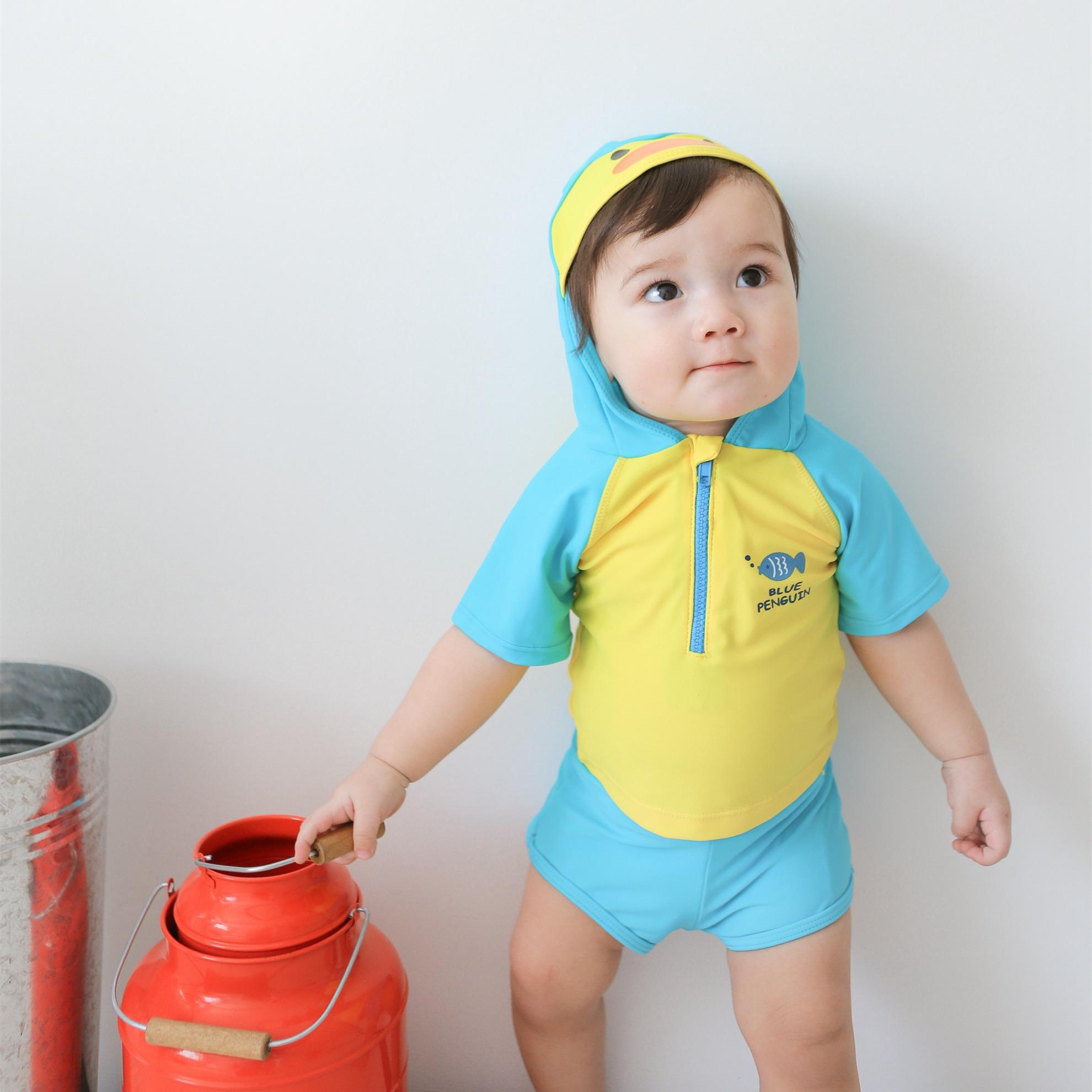 Детские [分体泳衣] на мальчика на младенца [可爱防晒泳装] комплект [1小童2-3岁幼儿] детские [游泳衣]