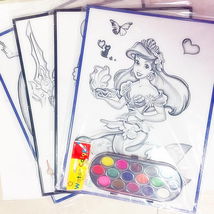 涂鸦画31*43大画板 儿童diy填色涂色水彩画公园摆摊热销水粉画