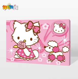 Jia Cai days Yan diy hand painted digital painting cartoon children decorative painting 20 30 hundred models optional