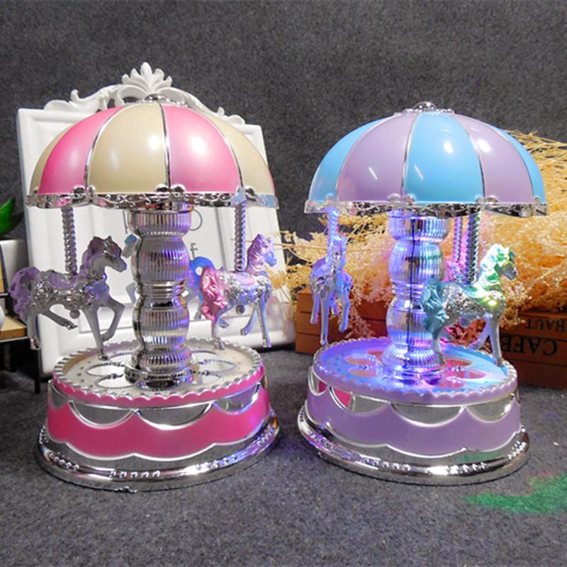 Корейский карусель музыкальная шкатулка шанхай, пекин, тяньцзинь на цепи музыка, свет музыкальная шкатулка творческий свадьба любители подарок музыкальная шкатулка шанхай, пекин, тяньцзинь