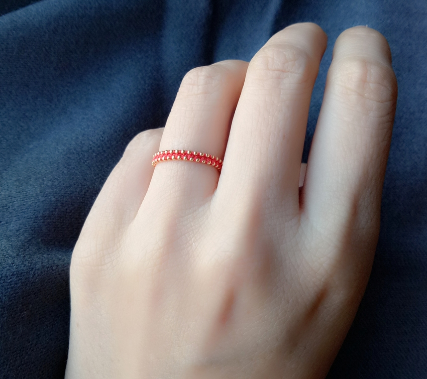 [Gu jingling] the couples red rope ring in the year of birth
