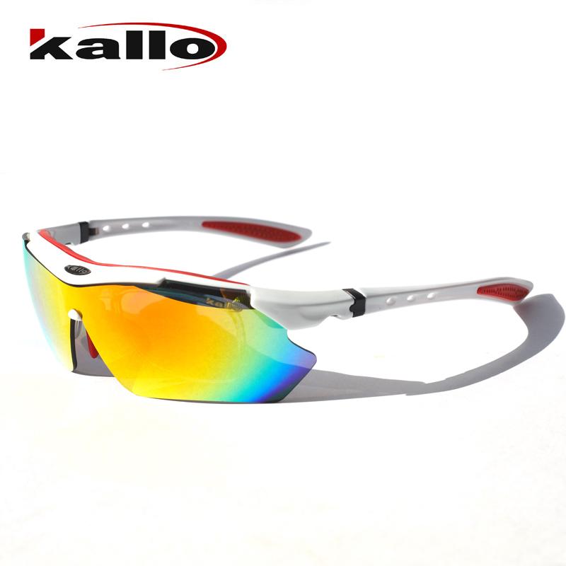 KALLO凯乐骑行户外运动跑步偏光眼镜可更换镜片可配近视