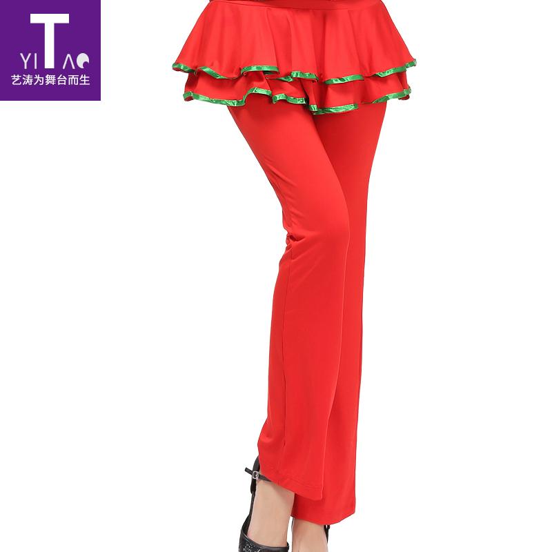 Искусство волны кадриль одежда брюки танец юбка-брюки весна новый сезон женщина топы практика одежда брюки танцы брюки