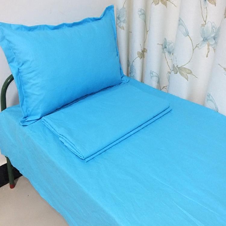 Хлопок лист синий лазурь светло студент комната с несколькими кроватями вверх и вниз магазин один одеяло хлопок три образца