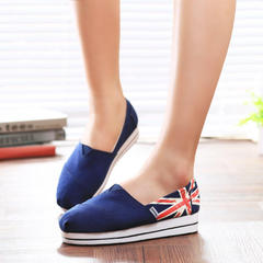 MI Ka fall 2015 new style canvas shoes women women's foot flag lazy lovers shoes feet shoes