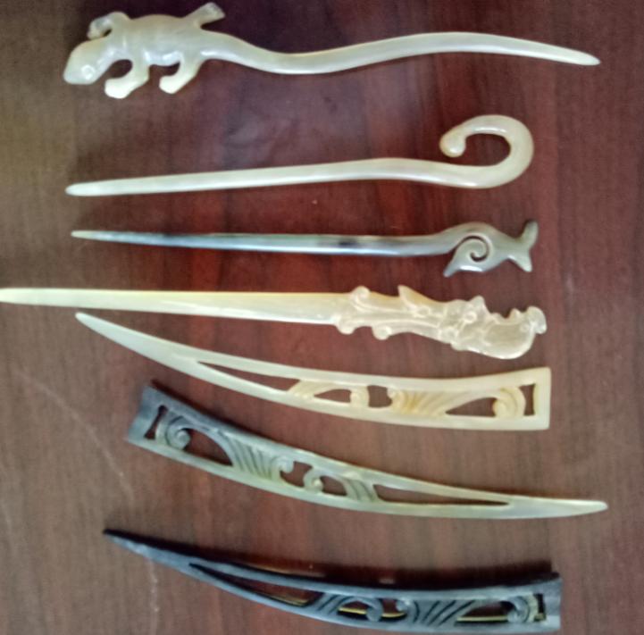 骆驼骨小饰品,发钗
