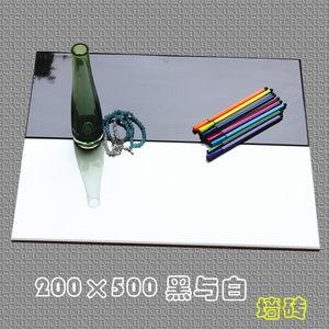 200*500黑白纯色内墙瓷砖/简约卫生间厨房餐厅墙面砖/加厚釉面砖