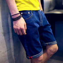 2015 department of cultivate one's morality, five points jeans denim shorts youth male 5 points four minutes of pants in the summer of four minutes of pants edge
