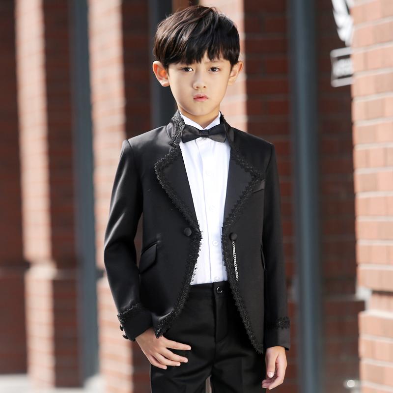 儿童礼服男 童装礼服男童西装礼服套装5件套春韩版花童礼服男